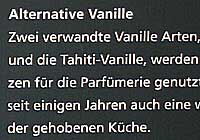Vanilleeis und alternative Vanille